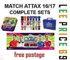 MATCH ATTAX 16/17 FULL SETS. BASE, BADGE, AWAY KIT, STAR PLAYER, MOTM, 100 CLUB