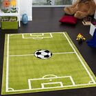 Football Pitch Kids Rug Green Soft Children Boys Carpet Play Room Area Floor Mat