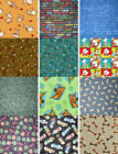 Dog Scooby Doo Bone Paws Cotton Fabric BTY Multiple Fabrics You Choose 4Charity