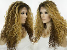 Glamorous Long Spiral Curl Lace Front Curly Wavy Blonde Brunette Red Wig