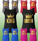 Couple Tank Top King and Queen Tank Top Matching Couple Clothes Shirts His Her