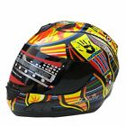 Motorcycle Full Face Helmet Valentino Rossi Colorful ABS DOT Anti UV Scratch New