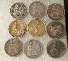 FOUR PENCE SILVER COINS  MIXED DATES