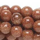 "16"" Strand Brown Goldstone MM Round Beads  * 4,6 or 8mm"