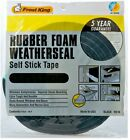 Frost King Black Foam Weather-Strip Tape, Various Sizes