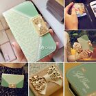 For Samsung Galaxy Phone Fashion Wallet Card Holder PU Leather Flip Case Cover