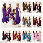 UK Stock Evening Formal Party Ball Gown Prom Bridesmaid Wedding Dress Size 6-18