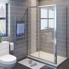 Bathroom Sliding Shower Enclosure and Tray Door Side Panel  Cubicle Free Waste