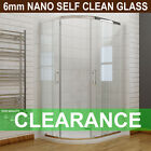 Quadrant Shower Door Enclosure Walk In Corner Glass  Cubicle Stone Tray+ Waste