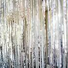 80s Party Decorations - Tinsel Door Curtain - Available in Gold and Silver