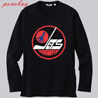 New Winnipeg Jets 80's NHL Retro Logo Long Sleeve Black T-Shirt Size S-3XL $19.48 USD on eBay