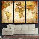 Canvas Wall Art Painting-Retro World Map Ready to Hang Canvas Prints Unframed