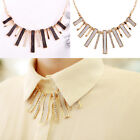 NEW Women's Bib Rectangle Alloy Charm Pendant Chain Choker Necklace