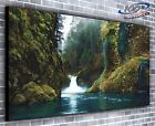 Majestic Waterfall Panoramic Canvas Print 4 Sizes to Choose - Ready to Hang