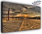 Sandy Beach Panoramic Canvas Print Modern Art 4 Sizes to Choose - Ready to Hang