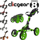 2016 Clicgear Modèle 8.0 Golf Trolley Performance 4 Roues Hommes Push Cart