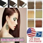 18''Indian Remy Human Hair Extensions 3M Tape in Skin Weft Hair 20-60pcs US Ship