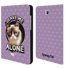 OFFICIAL GRUMPY CAT QUOTES LEATHER BOOK WALLET CASE FOR SAMSUNG GALAXY TABLETS