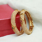 151 Ethnic Bollywood Gold Tone Pearl Indian Bangle Bracelet Polki Jewelry