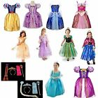Cinderella Frozen Elsa Anna Belle Tangled Fancy Dress Costume Party 1-8 years