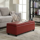"""Contemporary Modern Faux Leather bedroom rectangular Storage Ottoman Bench, 48"""""""