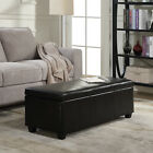 Contemporary Modern Faux Leather bedroom rectangular Storage Ottoman Bench, 48&quot; <br/> US Seller! Great Price! Premium Quality! Fast Shipping!