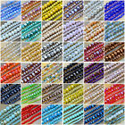 Top Quality Czech Crystal Faceted Rondelle Beads 2x3mm 3x4mm 4x6mm pick colors
