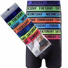 7 Days Men's Boxer Shorts Designer Weekdays Fashion Band Cotton,Underwear S-XL