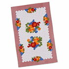 Fruit Country Cotton Kitchen Towel Red Gingham Vintage Style