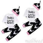 Pink Newborn Baby Little Girl Deer Tops +Long Pants Hat Outfit Set Clothes Xmas