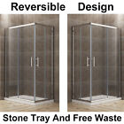Corner Entry Shower Enclosure and Tray Walk in Cubicle Sliding Glass Door