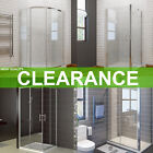 Sliding Quadrant Shower Enclosure Walk in Cubicle and Tray Pivot Corner Entry A