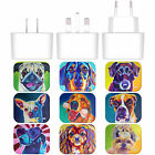OFFICIAL DAWGART DOGS WHITE EU CHARGER & USB CABLE FOR APPLE iPAD