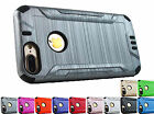 "for Apple iPhone 7 Plus 5.5"" BRUSHED Armor Hybrid Case +Prytool"