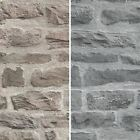 AS Creation Stone Brick Pattern Wallpaper Realistic Faux Effect Embossed Motif