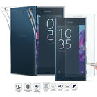 Tempered Glass + Ultra Thin Clear TPU Soft Protective Case For Sony Xperia XZ