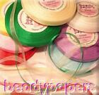 30 yards / 28 m Organza Ribbon 3 mm 1/8 in Sewing Fabric Trim 7 Colours