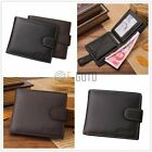 Men 's Hinge Leather Wallet Coin Purse Cross Section Cowhide Soft Buckle Wallet