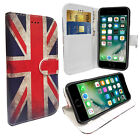 Distressed Union Jack Wallet media Stand case with card slots for Apple iPhone 7