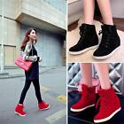 Womens High Top Lace Up Athletic Sneakers Shoes Lady Wedge Mejor Casual Platform