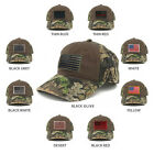 US American Flag Patch Mossy Oak Realtree Camo Adjustable Cap - CHOCOLATE