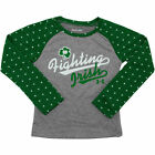 Girls Preschool Notre Dame Fighting Irish Under Armour Gray/Kelly Green Fighting