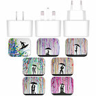MARC ALLANTE SILHOUETTES WHITE EU CHARGER MICRO-USB CABLE FOR BLACKBERRY PHONES