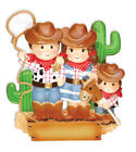 personalized family ornaments - PERSONALIZED CHRISTMAS ORNAMENTS-COWBOY FAMILY