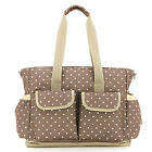 Minch Mother's Large Baby Polka Dot Diaper Bags Multifunction NEW Design 6Colors