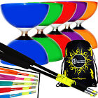 CAROUSEL Ball Bearing Diabolo Set + FIBRE Handsticks, Diablo String + Travel Bag