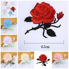 1pc Rose Flower Embroidery Iron On Applique Patch Sewing Tools 8.5*8.5 cm OZ