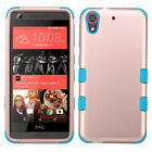 For HTC Desire 626 626S 530 Tuff Rubber Hybrid Rugged Slim Protective Phone Case