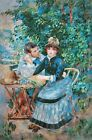 Reproduction of paintings in the garden author Pierre-Auguste Renoir