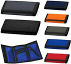 Mens Boys Ripper Wallet Bagbase Velcro Tri Fold Travel Sports Gift UK Trifold